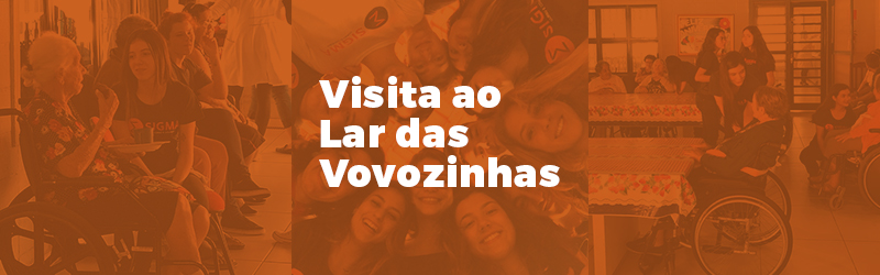 Emoção marcou a visita de alunos do Colégio Sigma ao Lar Maria Tereza Vieira